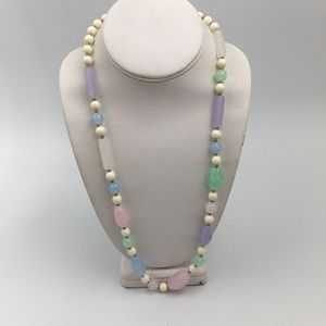 Pastel Multicolored Lucite Necklace